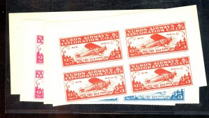 CANADA #CL42 (4) DIFF COLOR TRIAL COLOR PROOFS BLOCKS VF NH