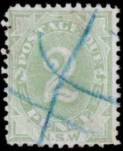 New South Wales Scott J3, Perf.11x12 Chalky Paper (1891-92) U H F-VF, CV $9.25 M