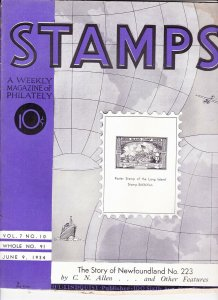 Stamps Weekly Magazine of Philately June 9, 1934 Stamp Collecting Magazine