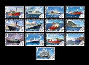Stamps Ascension Island 2020-Tristan da Cunha-TDC MODERN MAILSHIPS DEFINITIVE -S