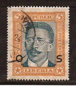 Liberia  #  O - 144  used
