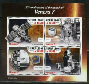 SIERRA  LEONE 2020 50th ANN OF THE LAUNCH OF VENERA 7  SHEET MINT NH