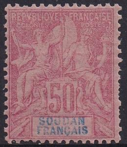 FRENCH SUDAN 1894 PEACE & COMMERCE 50C