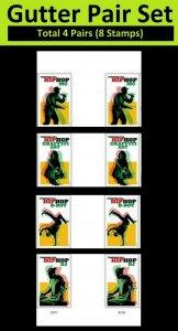 US 5480-5483 Hip Hop forever vert gutter pair set (8 stamps) MNH 2020 7/15