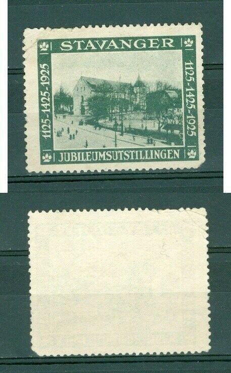 Norway. 1925 Poster Stamp. Stavanger 1125-1425-1925. Year. Annv.Exhibition.Cond.