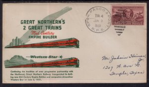 US Great Northern Railway Trains Empire Builder,Western Star 1951 Cover