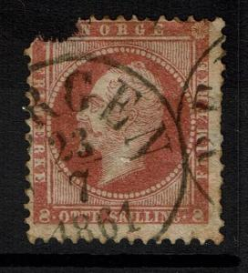 Norway SC# 5, Used, Page/Hinge Remnant, Corner Damage - Lot 012917