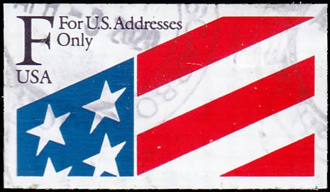Scott 2522 F Rate Flag Booklet Stamp Used