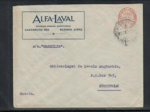 Cover Buenos Aires Argentina to Stockholm Sweden 1920s Meter