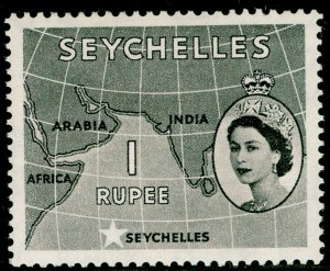 SEYCHELLES SG184, 1r grey-black, M MINT.