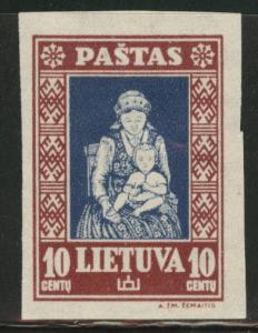 LITHUANIA LIETUVA Scott 277D Imperforate