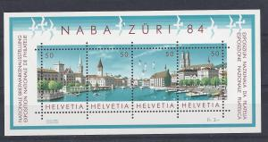 Switzerland, 749, NABA 1984 Stamp Expo Zurich S/S,**MNH**