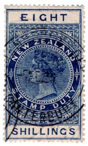 (I.B) New Zealand Revenue : Stamp Duty 8/-