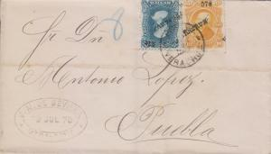 G)1878 MEXICO, HIDALGO ISSUE NICE COMBINATION, AT THE BACK \