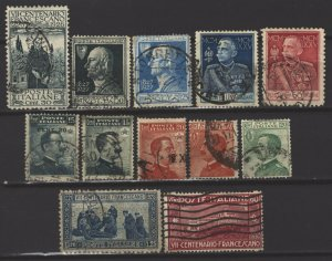 COLLECTION LOT # 5300 ITALY 12 STAMPS 1908+ CV+$21