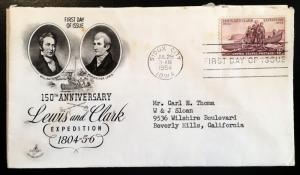 1063 Lewis & Clark, First Day Cover, Art Craft cachet, Vic's Stamp Stash