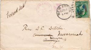 United States New York Owasco 1878 violet serifed cds with maltese crosses, o...