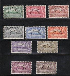 Montserrat Stamp Sc#75-84 Specimen Perforated Set - Mint Hinged - $250 cv