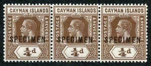 Cayman Is SG40s KGV 1/4d Brown x 3 (2 are U/M)