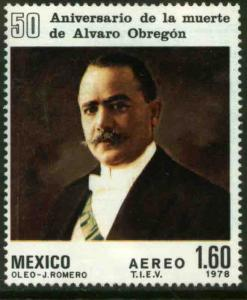 MEXICO C573, 50th Anniv of death of Pres Alvaro Obregon. MINT, NH. F-VF.