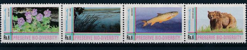 [49967] Pakistan 1994 Animals Biodiversity Fish Bear MNH
