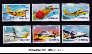 ALDERNEY - 2008 40 YEARS OF AURIGNY AIR SERVICE / AVIATION - 6V - MINT NH