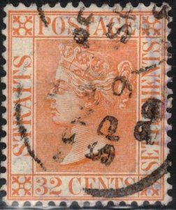 Straits Settlements Scott #56 Used