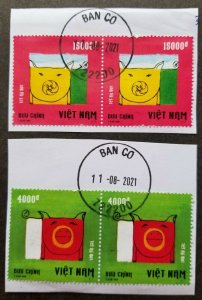 Vietnam Year Of The Pig 2018 Chinese New Year Zodiac Lunar (stamp blk 2) Used