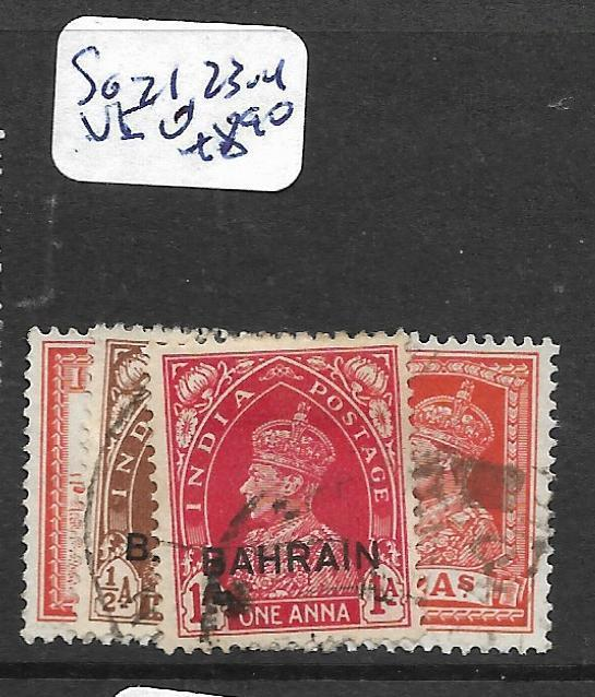 BAHRAIN (P0902B) KGVI ON INDIA  1/2A, 1A,2A  SG 21, 23-4   VFU