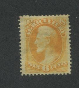 1873 United States Official Stamp #O4 Mint Hinged F/VF Original Gum