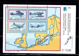Finland 773 MNH 1988 Airplanes S/S