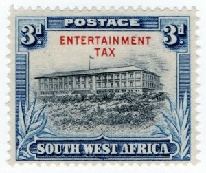 (I.B-BOB) South-West Africa Revenue : Entertainment Tax 3d