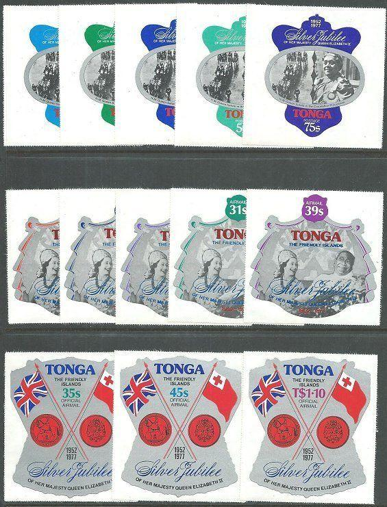 TONGA 1977 Silver Jubilee set complete with Officials MNH..................64881
