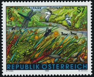 Austria 1792 MNH EUROPA, Donau-Auen National Park, Birds, Insects, Frog, Snails