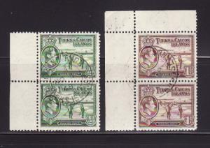 Turks and Caicos Islands 79-80 Pairs U King George VI (B)