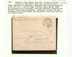 South Africa BOER WAR Soldier Letter 1900 INDIA MAIL *North-West Frontier* Ap126