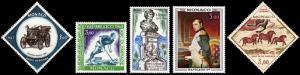 Monaco Scott C73, C74, C75, C76, C77 (1967-70) Mint NH/VLH VF