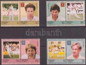 Tuvalu-Nukufetau stamp Cricket (I) 4 pairs MNH 1985 Mi 23-30 WS143090