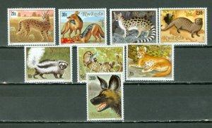 RWANDA 1981 WILDLIFE #1035-42  SET MNH...$14.25