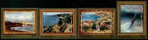 HERRICKSTAMP NEW ISSUES ROMANIA Sc.# 5968-71 Paintings - Marine Landscapes