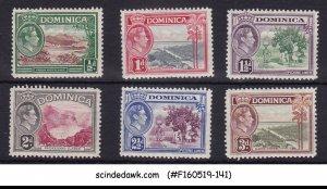 DOMINICA - 1938-47 KGVI SCOTT#97-102 - 6V - MINT LH