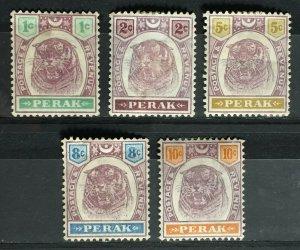 MALAYA PERAK 1895-99 Tiger 5V Mint M3239