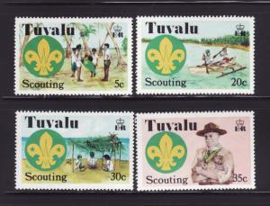 Tuvalu 50-53 Set MNH Scouts (C)