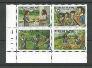 1986 Girl Guide Scouts Marshall Islands plate block
