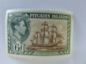 Pitcairn Islands SC #6  H.M. ARMED VESSEL BOUNTY  MH stamp
