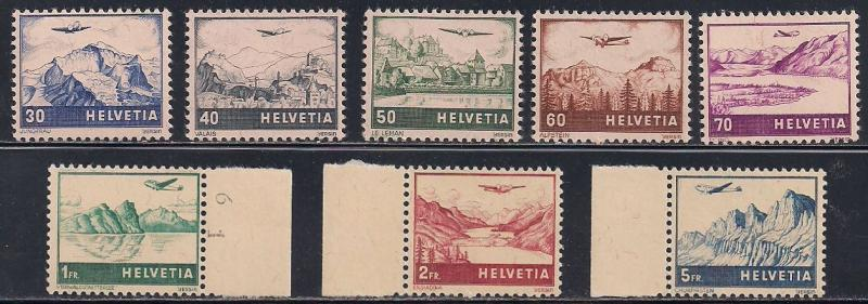 Switzerland C27-C34 MNH