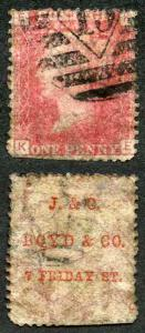 PP7 Penny Plate 120 (KE) with J and C Boyds and Co (Type 4) Underprint
