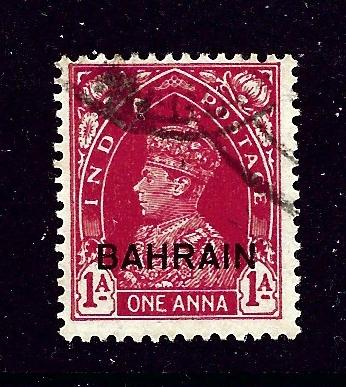 Bahrain 23 Used 1938 KGVI overprint issue