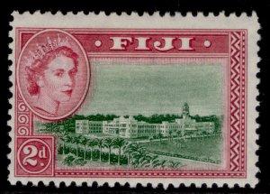 FIJI QEII SG283, 2d green & magenta, M MINT.