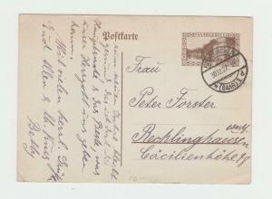SAAR 1927, 40c CARD HUENKIRSCHEN-RECKLINGHAUSE  (SEE BELOW)